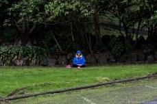 Meditation at the base of Mt. Eden. © Violet Acevedo