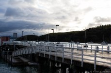 Sunset on the pier as we head back to Auckland. © Violet Acevedo