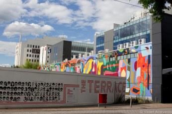 Murals give color to the concrete landscape. © Violet Acevedo