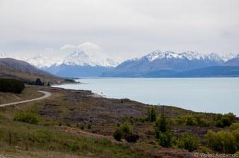 Mt. Cook sits at the distance. © Violet Acevedo