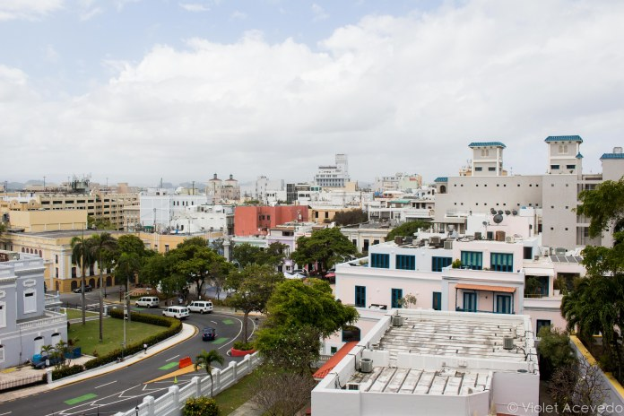 The rooftops of Old San Juan from Castillo San Cristobal. © Violet Acevedo