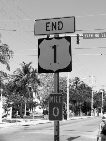 Key West Florida Highway 1 Mile Marker 0