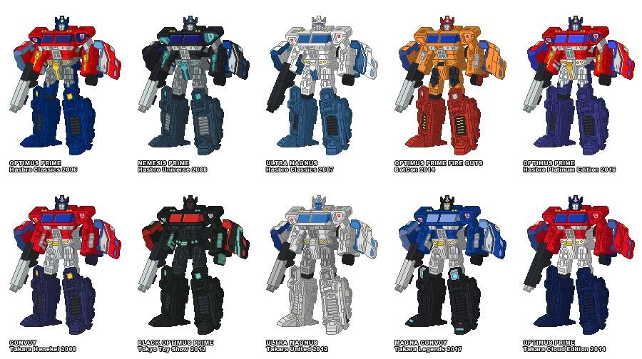 nemesis prime transformers retro pixel art