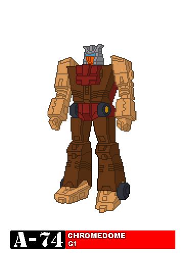 194 Chromedome Transformers Retro Pixel Art