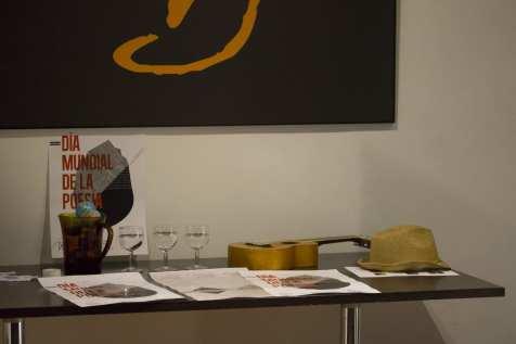 Carteles donde firmaron los participantes | Poetry Slam especial por el Día Mundial de la Poesía 2014 | Casa Museo Lope de Vega | 21 de marzo de 2014