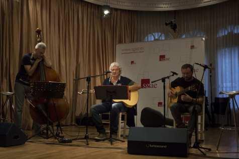 Albert Anguela, Joaquín Lera y Pablo Méndez en la presentación de 'La cuna del agua' y 'Cartas a Maitena' | (CC) Paula Díaz