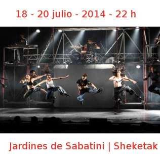 18 - 20 julio - 2014 - 22:00 h | Jardines de Sabatini | Sheketak | Veranos de la Villa 2014 | Madrid