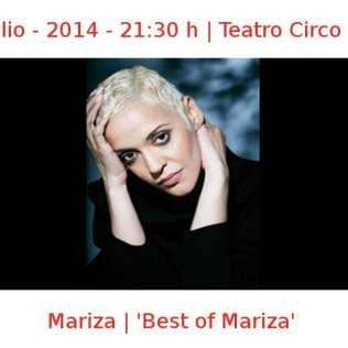 18 julio - 2014 - 21:30 h | Teatro Circo Price | Mariza - 'Best of Mariza' | Veranos de la Villa 2014 | Madrid