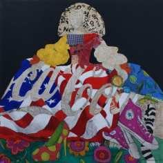 Menina 133 | 100X100 - Técnica mixta sobre lienzo | Carmen Casanova | Exposición 'Glamourama' | Galería Herráiz | Madrid