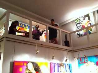 Un momento de la actuación musical | Inauguración de la Exposición 'Glamourama' de Carmen Casanova | Galería Herráiz de Madrid | Jueves 4 de septiembre de 2014