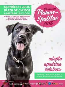 Chueca con plumas y patitas 2015 | Adopta, apadrina, colabora | Domingo 5 de julio de 2015 | Plaza de Chueca | Madrid Orgullo MADO 2015