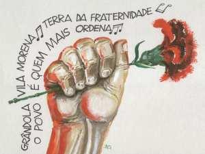 Grândola, vila morena, terra da fraternidade, o povo é quem mais ordena...   25 de abril de 1974   Portugal