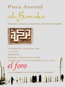 Al-baraka   Exposición fotografica de Pura Arenal   El foro de Izab   Desde el 6 de junio de 2019   La Latina (Madrid)   Cartel