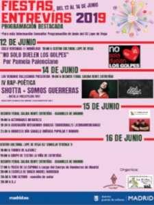 Fiestas de Entrevías 2019   12 - 16/06/2019   Puente de Vallecas   Madrid   Cartel