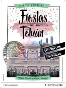 Fiestas de Tetuán 2019 | 05, 06 y 07/07/2019 | Tetuán | Madrid | Cartel
