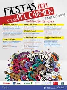 Fiestas del Carmen 2019 | Puente de Vallecas | Madrid | 10-16/07/2019 | Cartel programación destacada