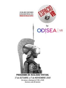 Nuevo programa de VR | Odisea | Círculo de Bellas Artes | Madrid | 17/10-17/11/2019 | Cartel