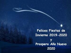 Felices Fiestas de Invierno 2019-2020 y Próspero Año Nuevo 2020
