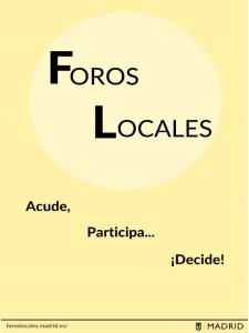 Foros Locales de Madrid | Acude, Participa... ¡Decide! | Ayuntamiento de Madrid
