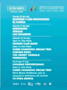 Edición extraordinaria 2020 | Festival Cultura Inquieta | 10-13/09/2020 | Getafe | Comunidad de Madrid | Programa