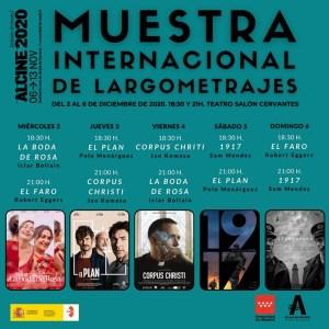 ALCINE 2020 | Muestra Internacional de Largometrajes | 02-06/12/2020 | Teatro Salón Cervantes | Alcalá de Henares | Cartel programación