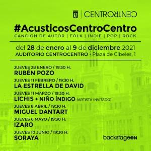#AcusticosCentroCentro   Nuevo ciclo de conciertos en CentroCentro   Palacio de Cibeles   Madrid   Cartel