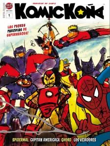 KOMICKOÑA #1   Magazine de parodias de superhéroes   Trebi Mann   Enero 2021   Portada
