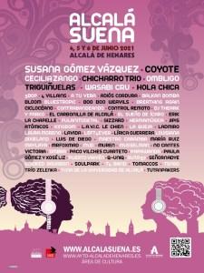 Alcalá Suena 2021 | Alcalá de Henares | 4, 5 y 6/06/2021 | Cartel