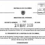 Gobierno decreta aislamiento preventivo obligatorio hasta el 1 de julio.