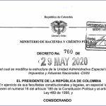 Se modifica la estructura de la Unidad Administrativa Especial Dirección de Impuestos y Aduanas Nacionales -DIAN.