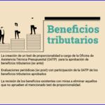 Propuesta No 1. Beneficios tributarios.