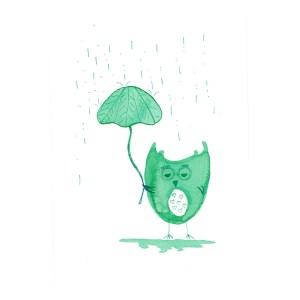 Affiche Hibou, Wishlist Art — Vert Prairie, Ponio