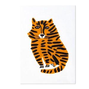 Affiche Tigre, Léa Maupetit — Orange Citrouille, Ponio