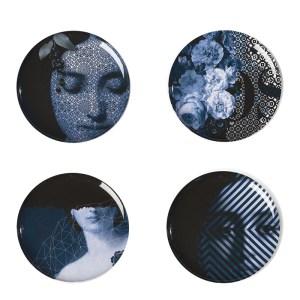 Assiettes, Ibride — Bleu Nuit, Ponio