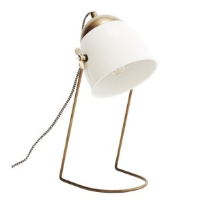 Lampe de Bureau, Madam Stoltz — Blanc Neige, Ponio