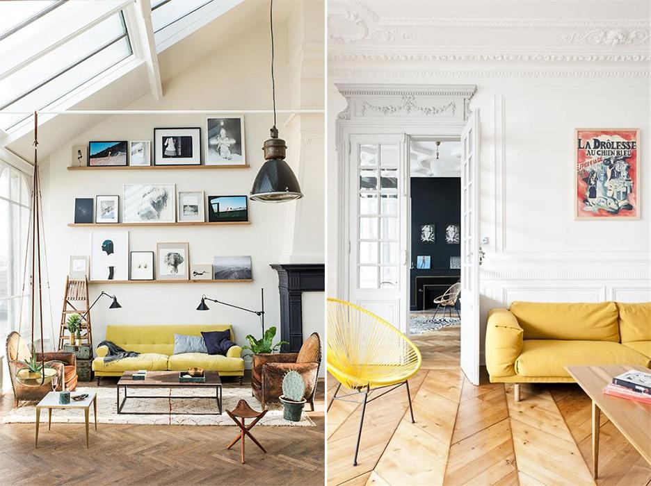 Salon Jaune Citron : Du jaune citron pour illuminer son intérieur ponio