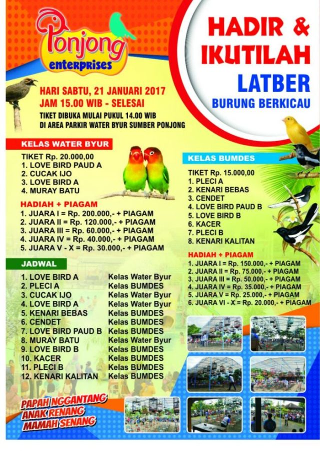 Jadwal Lengkap LATBER Ponjong Enterprises