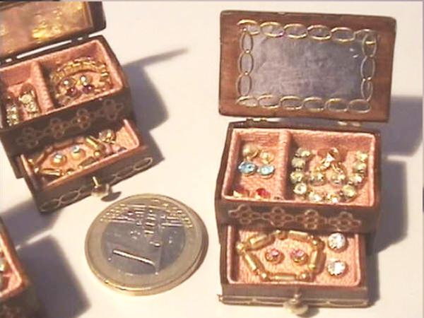 Joyeros en miniatura escala 1/12. ponlearte.com