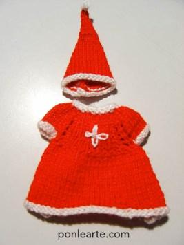 Vestido en miniatura de mama noel