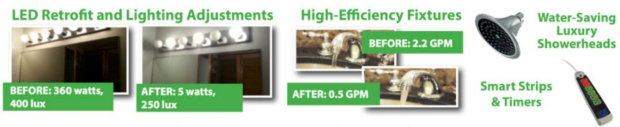 LED and other efficiency installations