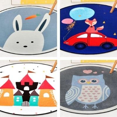 שטיחים עגולים הדפס חיות לילדים