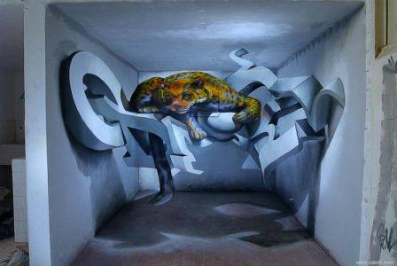 gambar grafiti 3d hewan