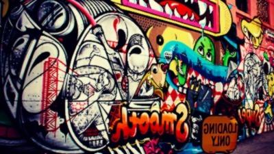gambar grafiti anime 3d