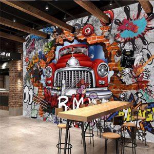 gambar grafiti mobil 3d