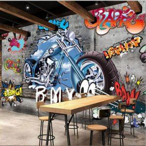 gambar grafiti motor 3d keren