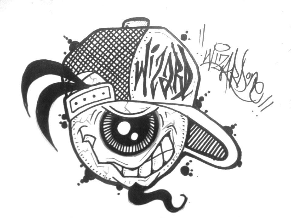 30 Ide Keren Gambar Grafiti Kartun Keren Hitam Putih Soho
