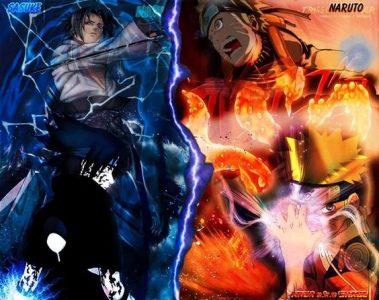 DP BBM Naruto VS Sasuke