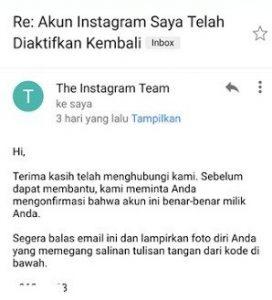 cara mengembalikan akun instagram yang terblokir