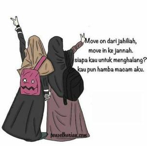 Kumpulan Gambar Kartun Akwat Muslimah Bercadar  Ponsel Harian