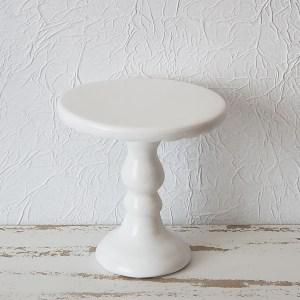 Suporte Alto para doces em Cerâmica cor Branco